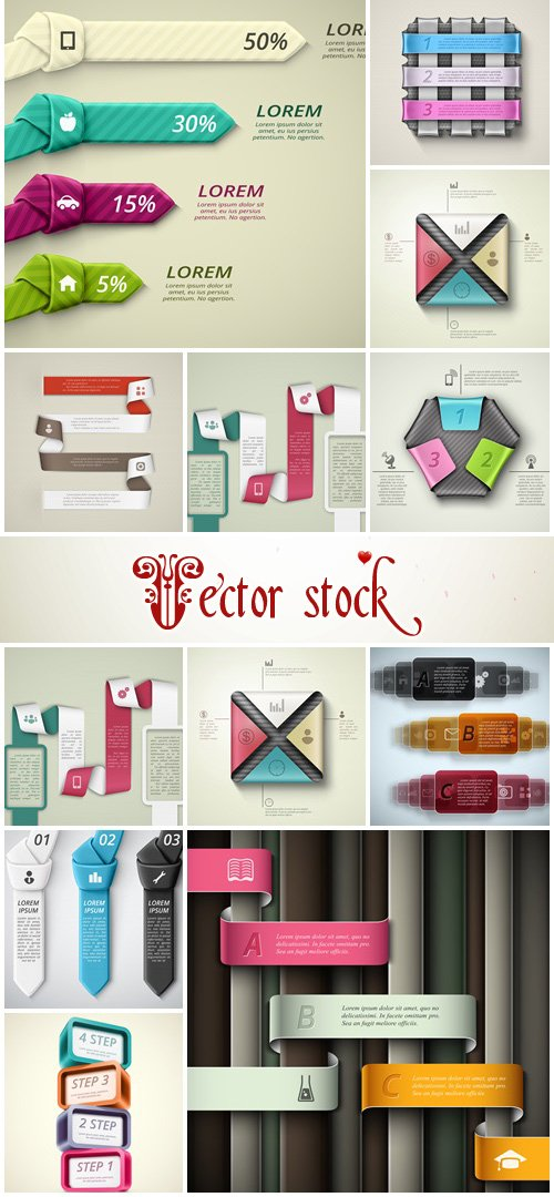 Infographic collection, part 69 - vector stock