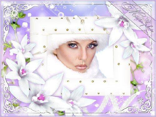 Романтическая рамка - Среди царства задумчивых лилий