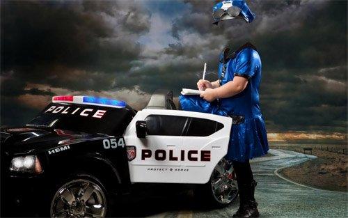 Шаблон для малышей - Бесстрашная маленькая сотрудница полиции