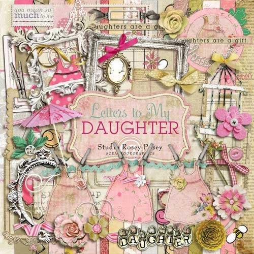 Романтический скрап-комплект для девочек - Письма моей дочери