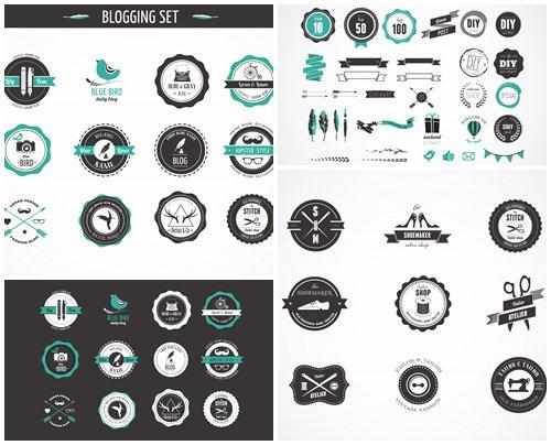 Design elements in vector, part 25 - vector stock