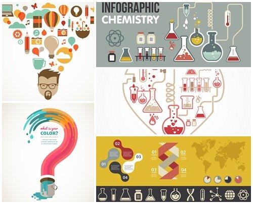 Creativ infographic idea - vector stock