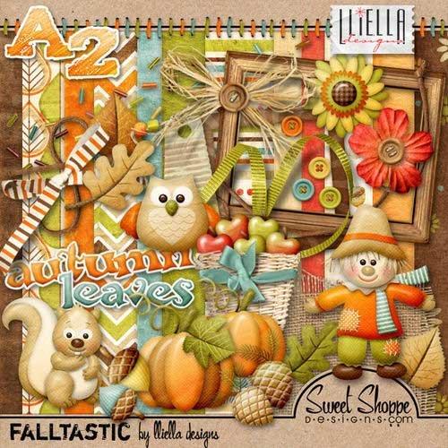 Очаровательный осенний детский скрап-комплект - Осенняя фантастика