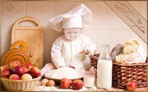 Шаблон детский мальчику - Кулинар маленький