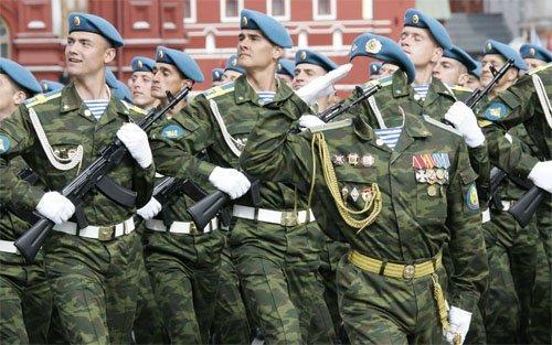 Шаблон для мужчин - На параде в военной форме