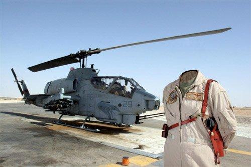 Шаблон для девушек - Военный пилот боевого вертолета