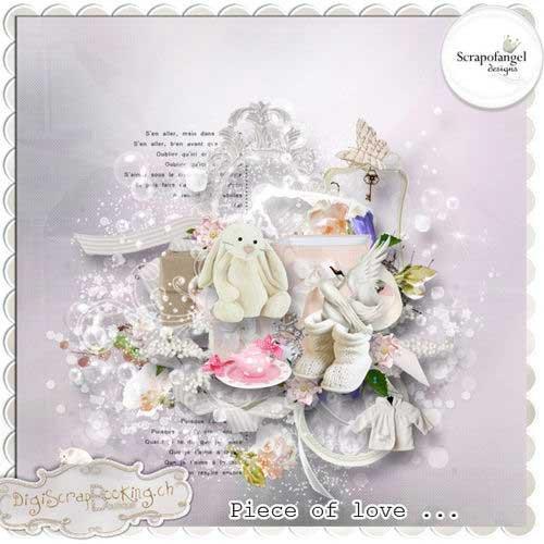 Очаровательный романтический скрап-комплект - Кусочек любви