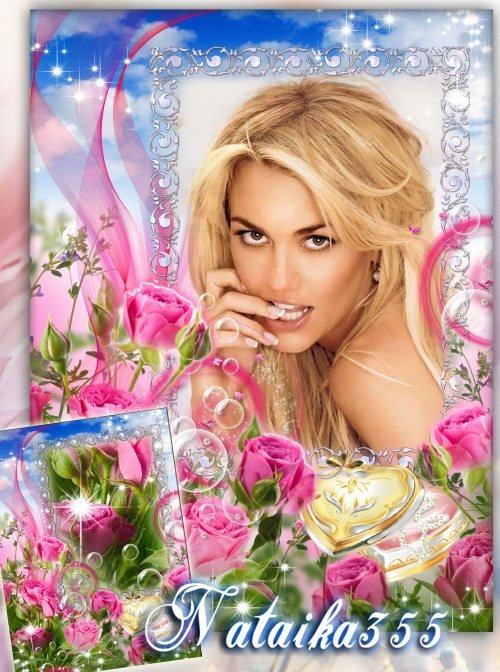 Рамка для фото - Пахнут любовью нежные розы