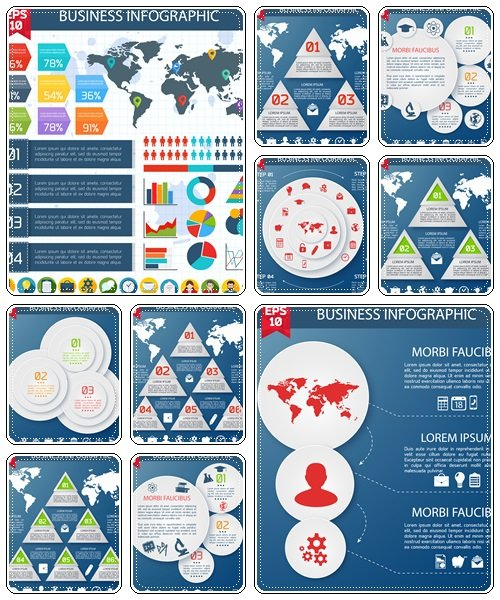 Business infographics, 91  - vector stock