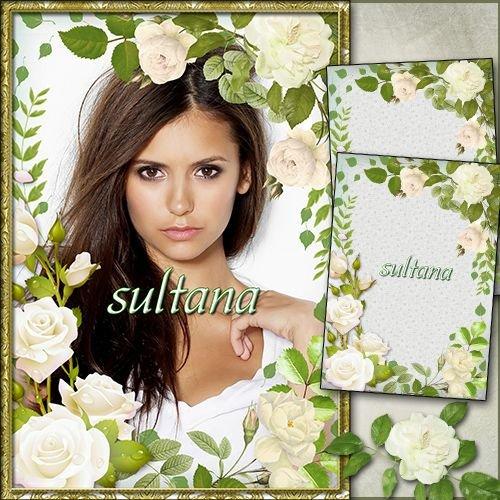 Рамка для фото - Белые розы прекрасны, как ты