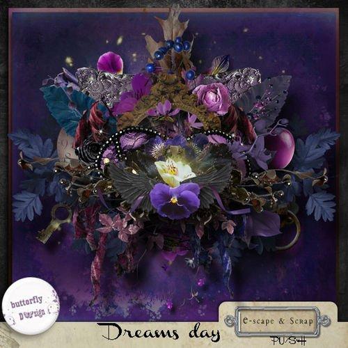 Необычный романтический скрап-комплект - День грёз