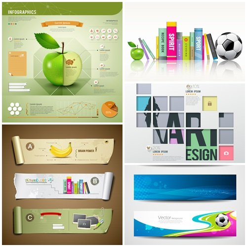 Modern infographics squares template for business shopping - vector stock