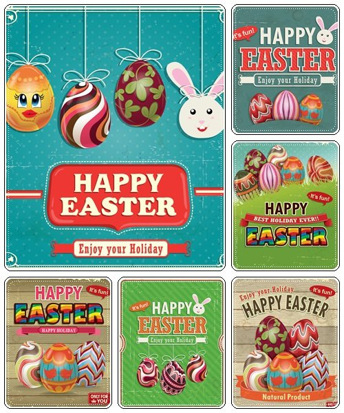Easter elements, part 40  - vector stock