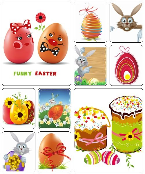 Easter elements, part 41  - vector stock