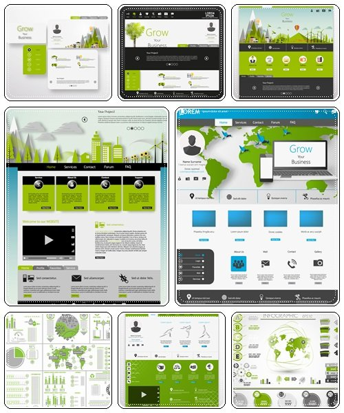 Web vector elements, 15 - vector stock