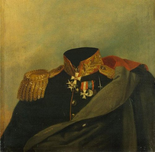 Шаблон для фотомонтажа - Портрет полководца XIX века