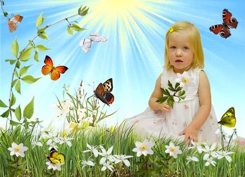 первые цветы на поляне