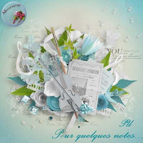 Романтический винтажный скрап-комплект - Pour Quelques notes