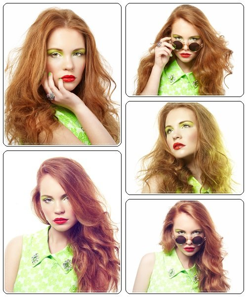 Glaumour woman with red hair, 21 - Stock Photo