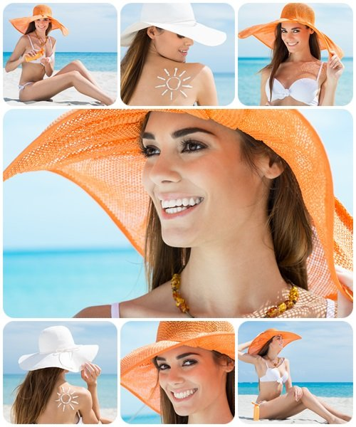 Portrait Of A Happy Woman At The Sea - Stock Photo