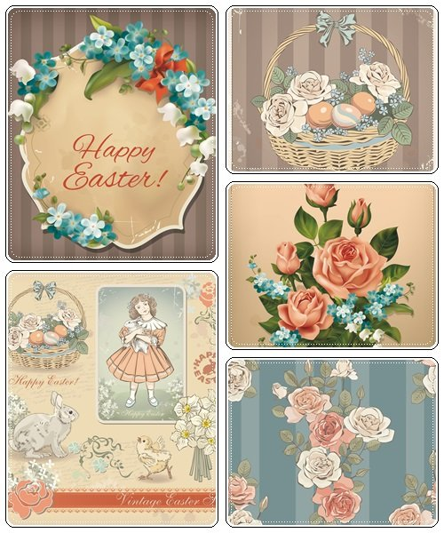 Easter vector collection, part 44  - vector stock