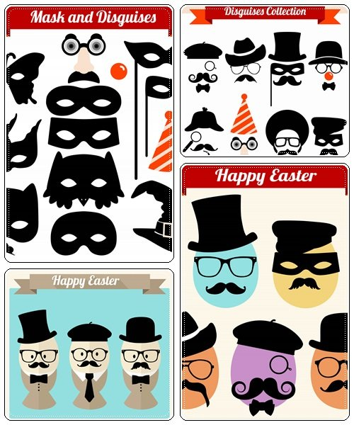 Mask and disguises - vector stock