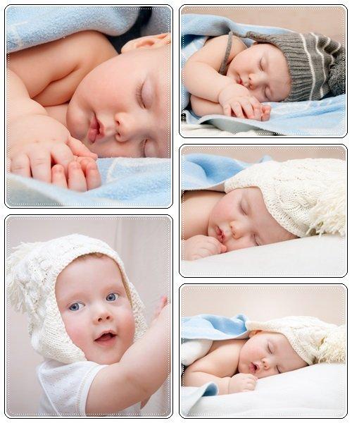 Small sleeping baby - Stock Photo