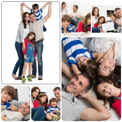 Portrait Of Happy Family - Stock Photo
