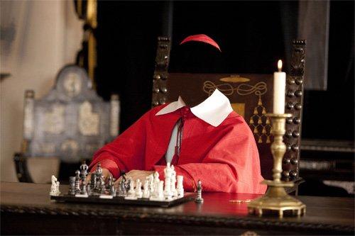 Шаблон для Photoshop - Кардинал в красной сутане