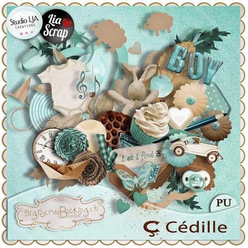 Детский скрап-комплект для мальчишек - C Cedille
