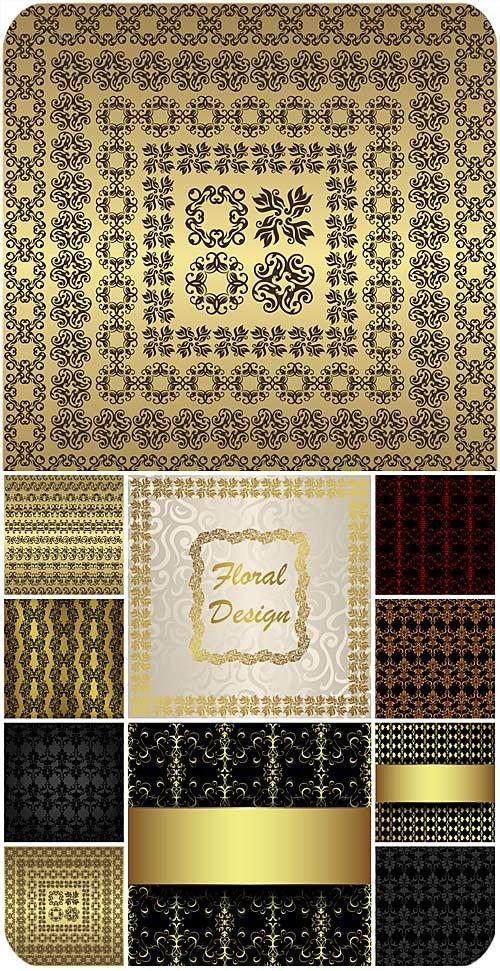 Узоры, орнаменты, винтажные векторные фоны / Patterns, ornaments , vintage vector backgrounds
