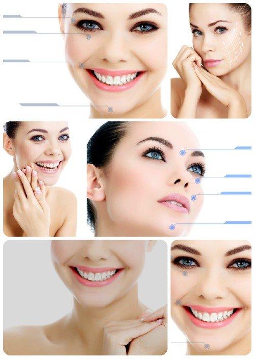 Улыбка красивой девушки, красивое женское лицо / Smile beautiful girl - Stock Photo