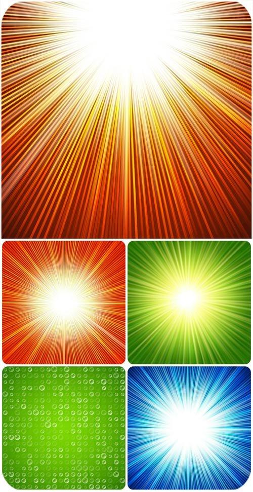 Векторные фоны с сияющей абстракцией / Vector background with glowing abstraction