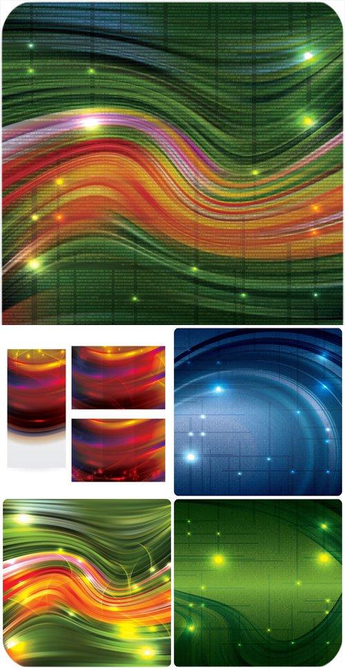 Векторные фоны, сияющие разноцветные фоны / Vector backgrounds, shining colorful backgrounds