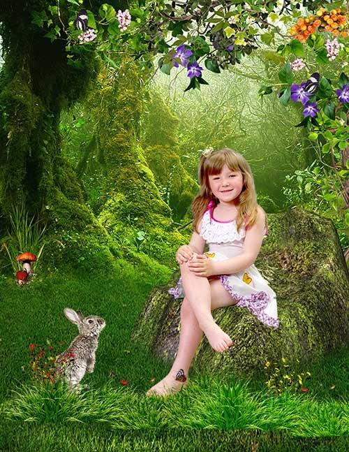 Шаблон для малышей В дремучем лесу