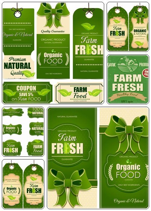 Farm fresh collection of labels  - vector stock