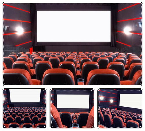 Cinema auditorium - Stock Photo