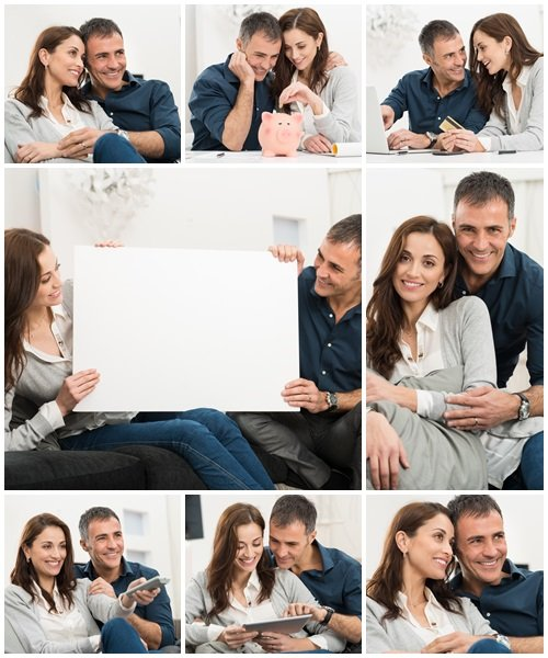Portrait Of Happy Couple, 9 - Stock Photo