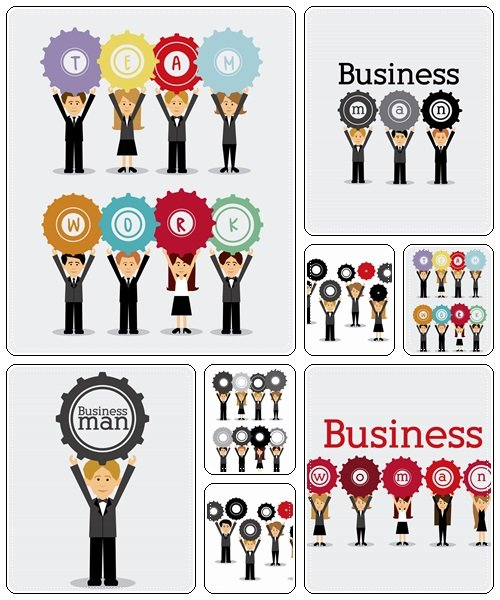 Business team, 5  - vector stock