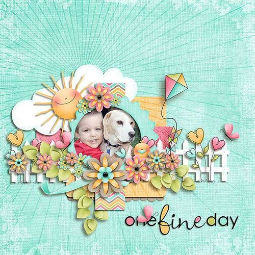 Очаровательный детский скрап-комплект - Один прекрасный день