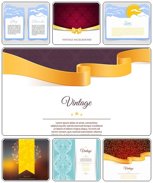 Vintage backgrounds, 19 - vector stock