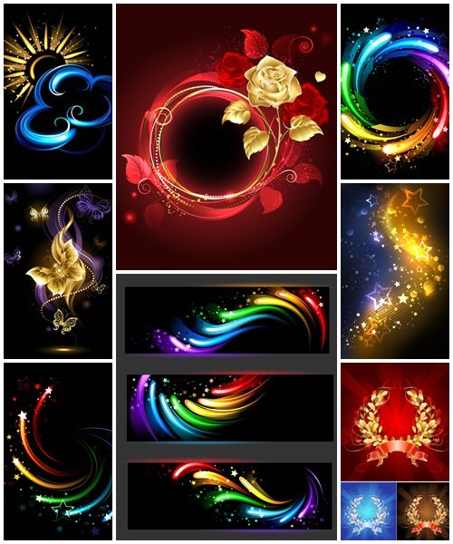 Abstract backgrounds, 55 - vector stock