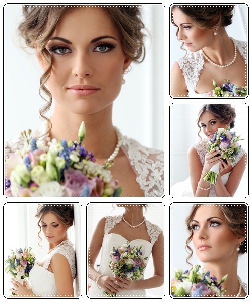 Beautiful bride, 55 - Stock Photo
