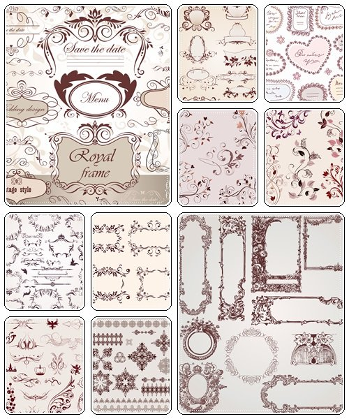 Vector vintage elements, 60 - vector stock