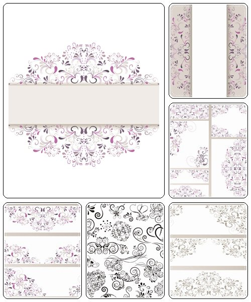 Floral elements, 10 - vector stock