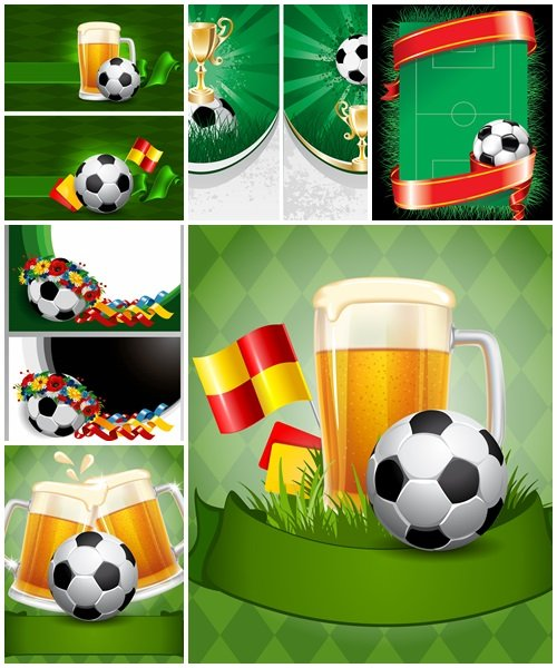 Soccer poster, part 5 - vector stock