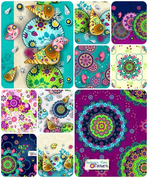 Floral Patterns, part 2 - vector stock