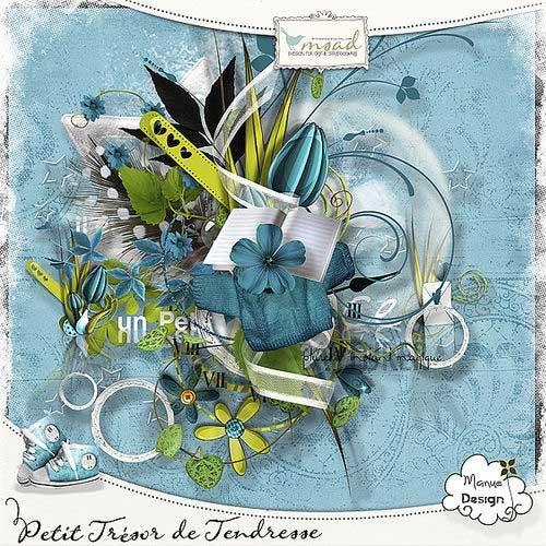 Цветочный скрап-комплект - Нежное сокровище
