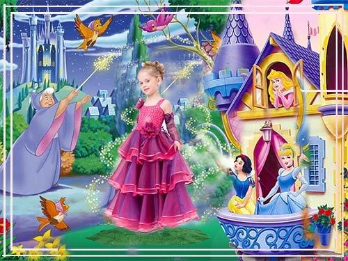 Шаблон детский – Волшебное превращение в принцессу