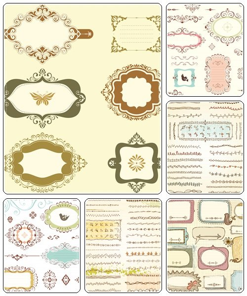 Ornate Frames Design - vector stock